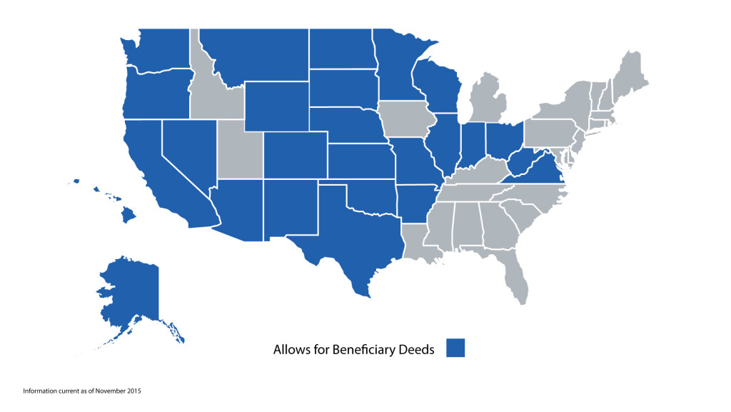 States that allow for a beneficiary deed